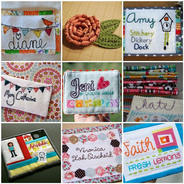 Portland Modern Quilt Guild Have You Started Your Name Tag Quilty Tags Pinterest Quilts And Names