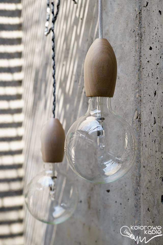 Lampa z serii Loft Eco Line - kolorowe kable