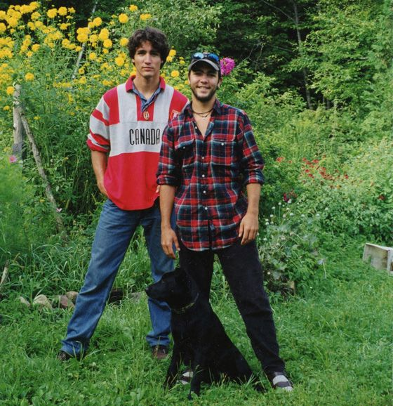 Justin and Michel, the eldest and youngest of Pierre Trudeau's three sons