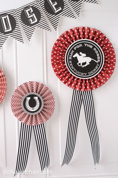 DIY #KentuckyDerby Party Ideas and free #Derby printables on PolkadotChair.com