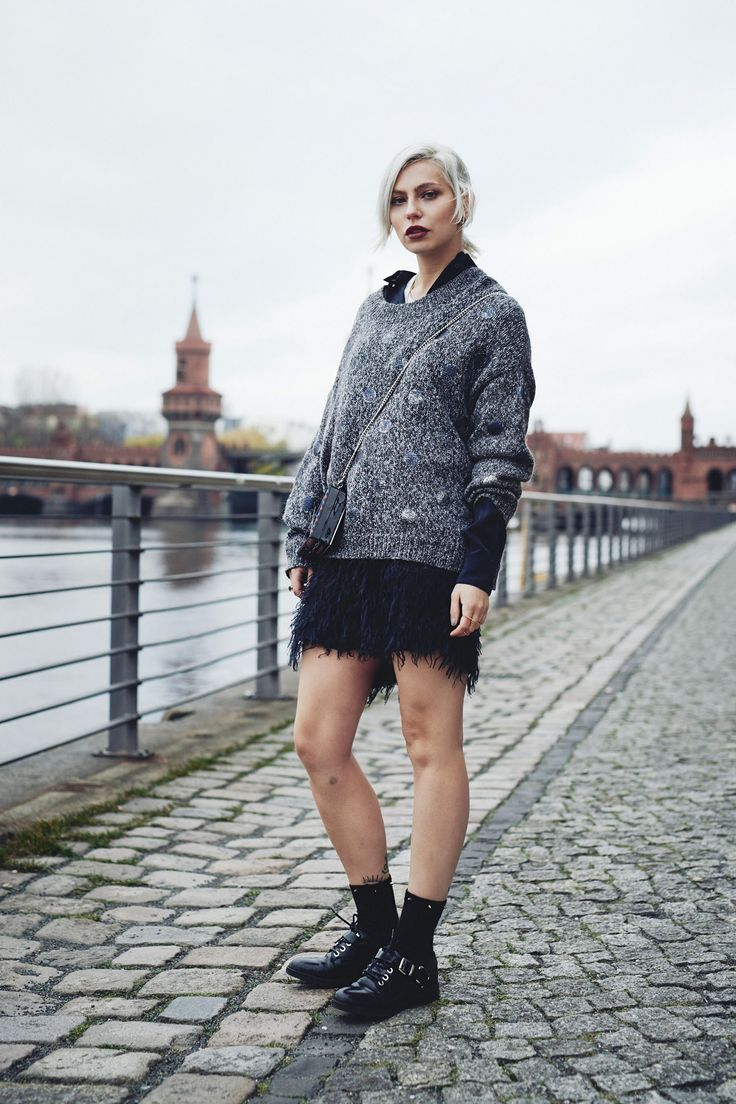 view more details on my blog | edgy fashion, winter street style and more | featuring Baum und Pferdgarten and Karl Lagerfeld