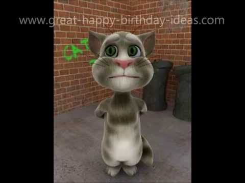 Coolest Cat Singing Happy Birthday - YouTube
