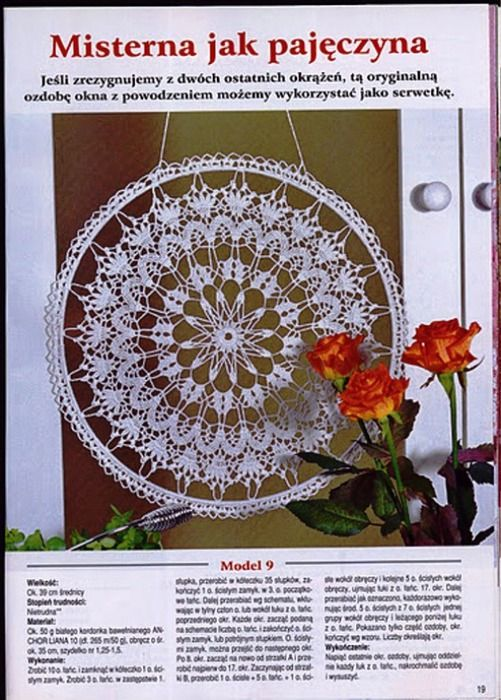 I see a dreamcatcher doily with diagram