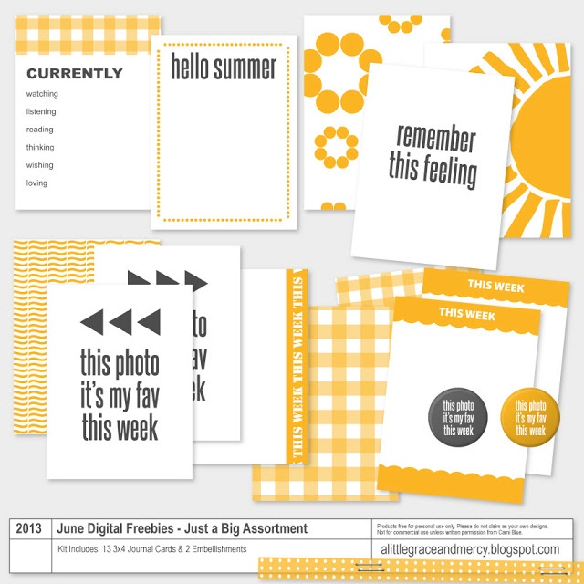Project Life | free printable Summer journal cards #scrapbooking