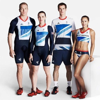 Chris Hoy, Victoria Pendelton, Andy Murray and Jessica Ennis - Gold Medal winners for Team GB 2012