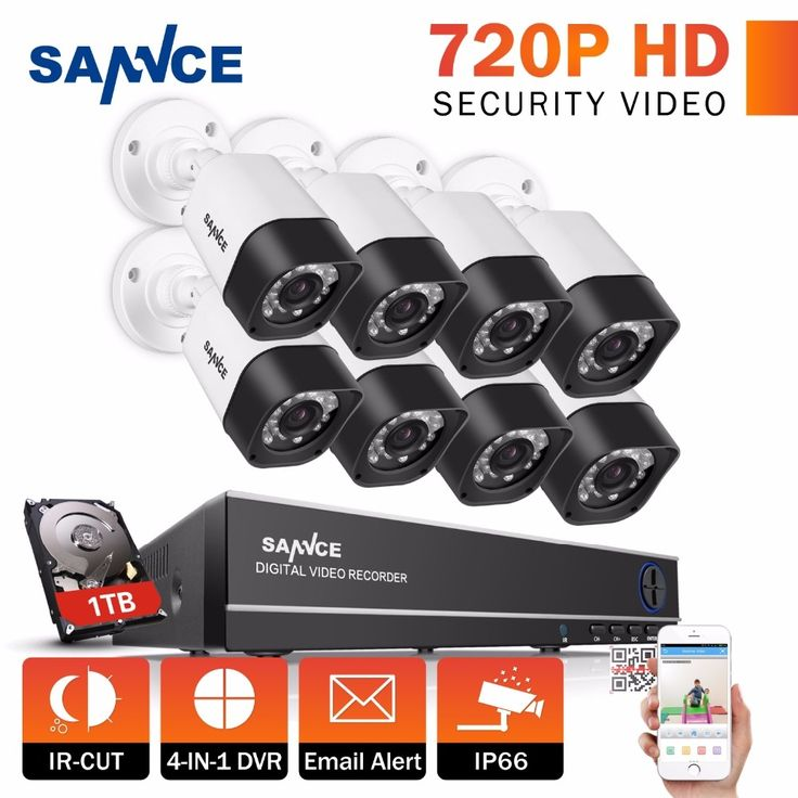 250.12$  Watch now - http://ali0zw.worldwells.pw/go.php?t=32773059552 - SANNCE CCTV System 8CH DVR Kits HD 720P Outdoor Security Camera System 8 Channel CCTV Surveillance Kit TVI Camera Set 1TB disk 250.12$