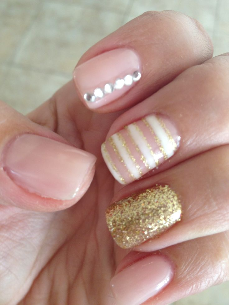 Give that Neutral Nail trend some pizzazz!! Neutrals don't have to be boring