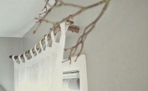 Tringle à rideaux bois brut