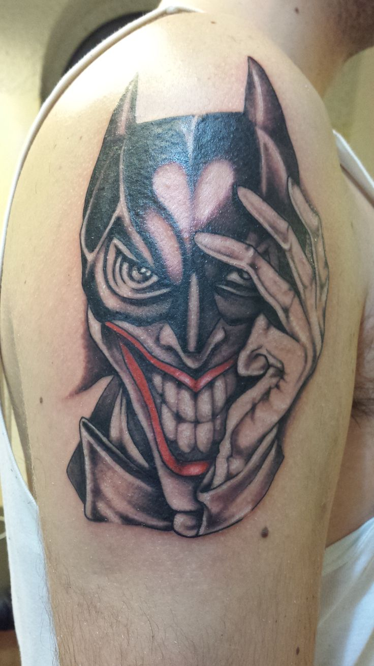 Batman joker tattoo geekitude pinterest tattoo for Joker batman tattoo