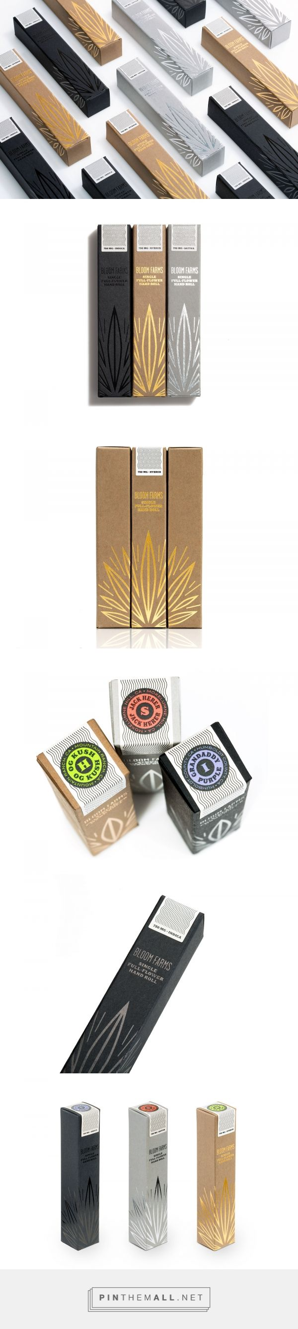 Bloom Farms Premium Hand Rolls packaging design by Pavement - http://www.packagingoftheworld.com/2017/01/bloom-farms-premium-hand-rolls.html