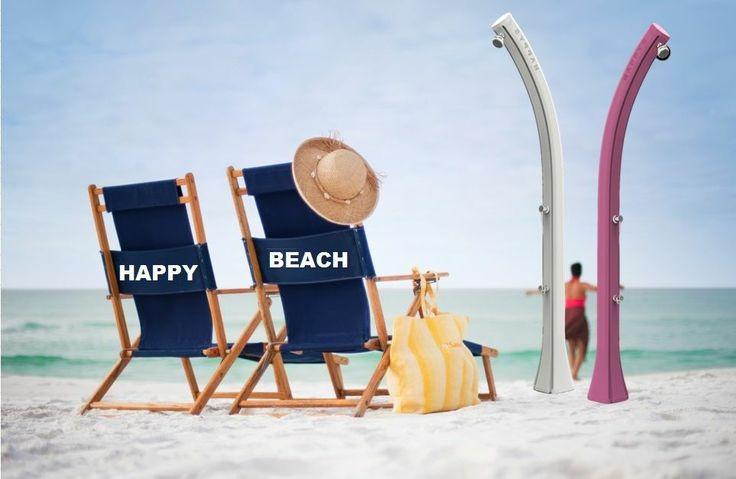 """DOCCIA SOLARE """" HAPPY BEACH"""" CON LAVAPIEDI - GIARDINO, PISCINA, SPIAGGIA"""