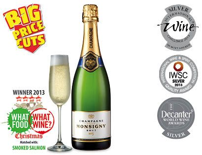 From Aldi .... Number 3 on Telegraph champagne list £9.99
