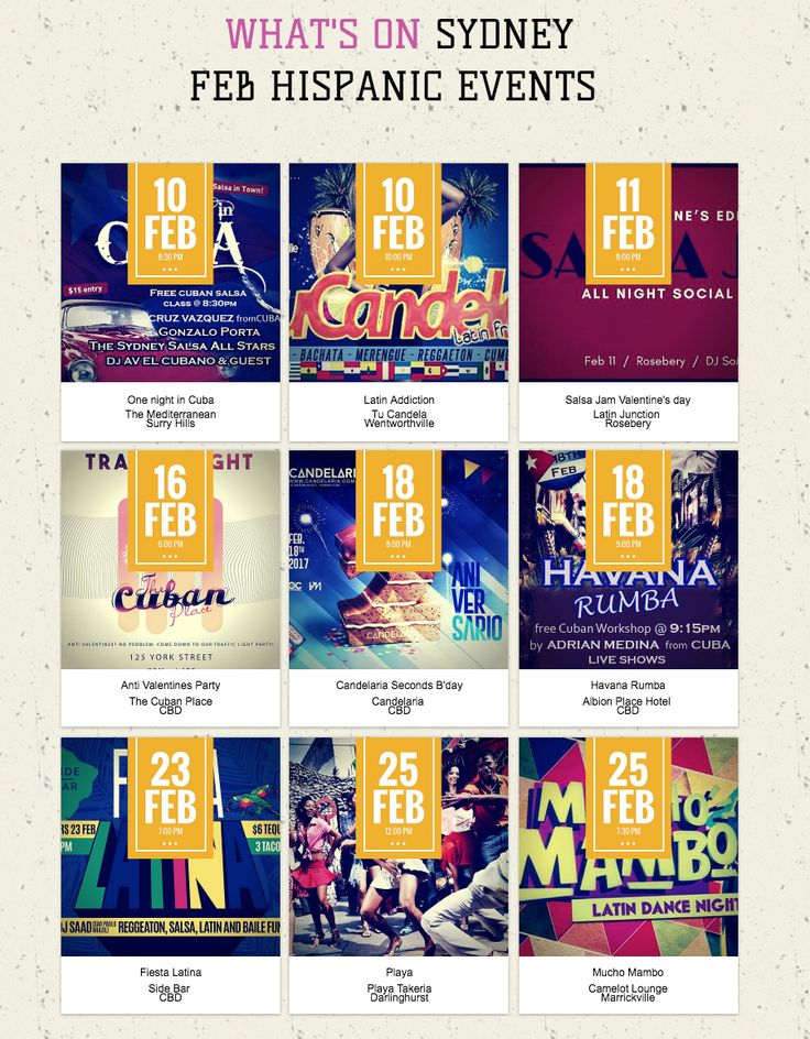 Check out #February most popular #Hispanic events in #Sydney