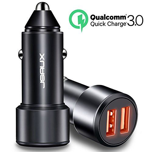 #JSAUX #USB #Car #Charger, #Quick #Charge 3.0 3A/36W 2-Port #USB #Car #Charger With #LED #Indicator #Samsung #Galaxy #S8 S8+ #S7 #Edge Plus, #Note #8, #iPhone #7 #6S #6 Plus , #iPad #Pro #Air #2 #mini, #LG, #Nexus and More Dual #Quick #Charge 3.0 Port: Dual ports pump out 36W, independent circuit, the maximum output current is 3A for each port. #Charge #2 devices simultaneously with fast charging speed. Faster Charging: Charges devices up to 4 times faster with #Quick #Charge