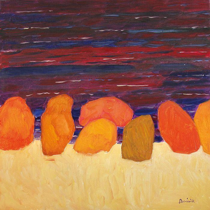 Tadeusz Dominik | <i>MORZE CZERWONE, 2007  </i> | olej, płótno | 90 x 90 cm
