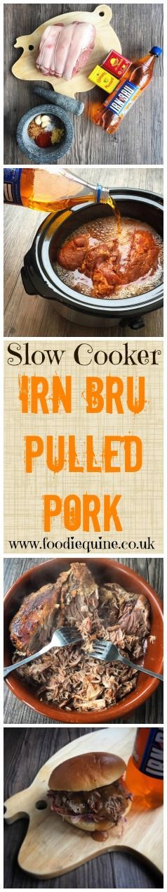 Foodie Quine - Scottish Irn Bru Pulled Pork. Perfect for Burns Night & St Andrews Day. Quirky Scottish Food.