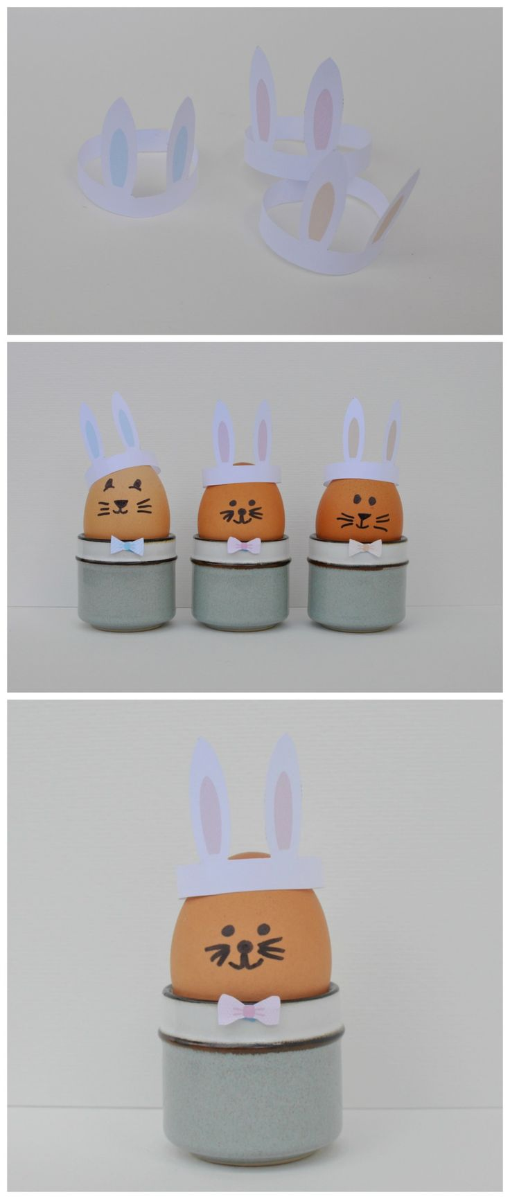Cute Boiled Egg Bunny Hat Printable