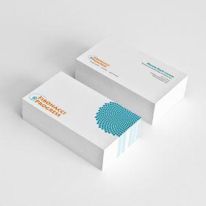 Fibonacci Progress business card. By byDesign