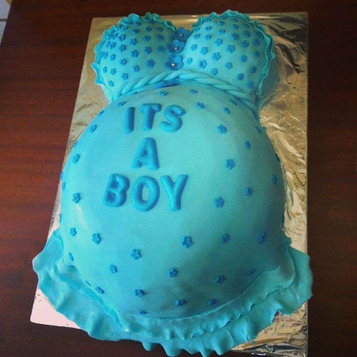 Baby bump cake for baby shower - by Bridget Alves