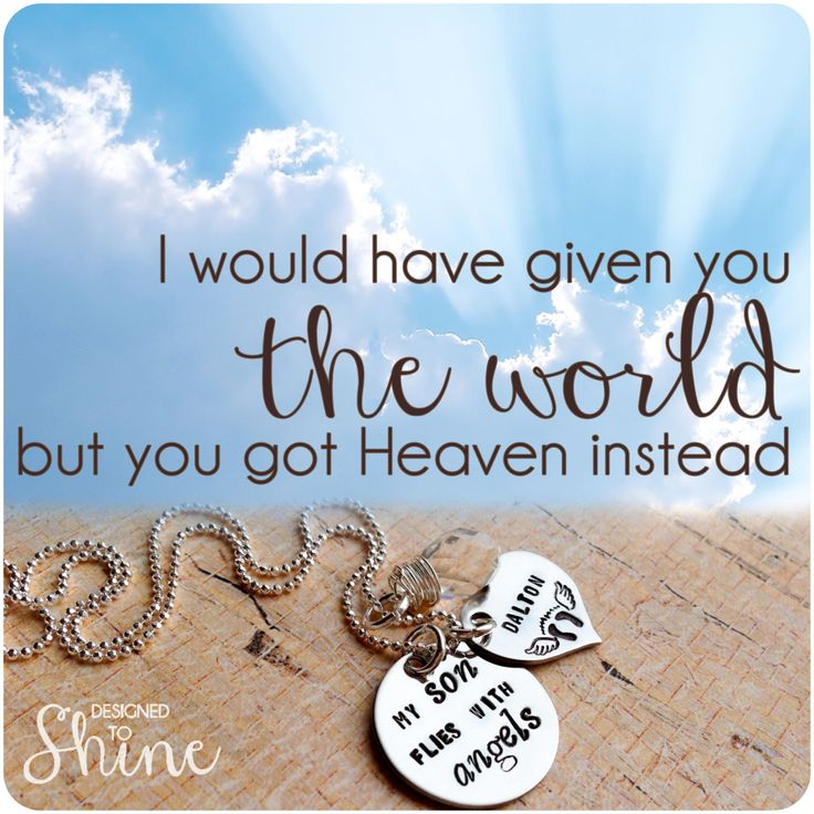 My Baby Flies With Angels Necklace  by DesignedToShineAcc on Etsy, $45.00
