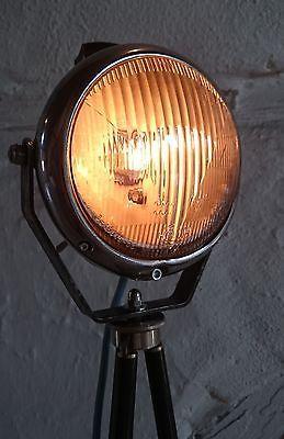 Tripod Steh Tisch Oldtimer Scheinwerfer Lampe Foto Stativ Industrie Retro Hella in Möbel & Wohnen, Beleuchtung, Lampen   eBay
