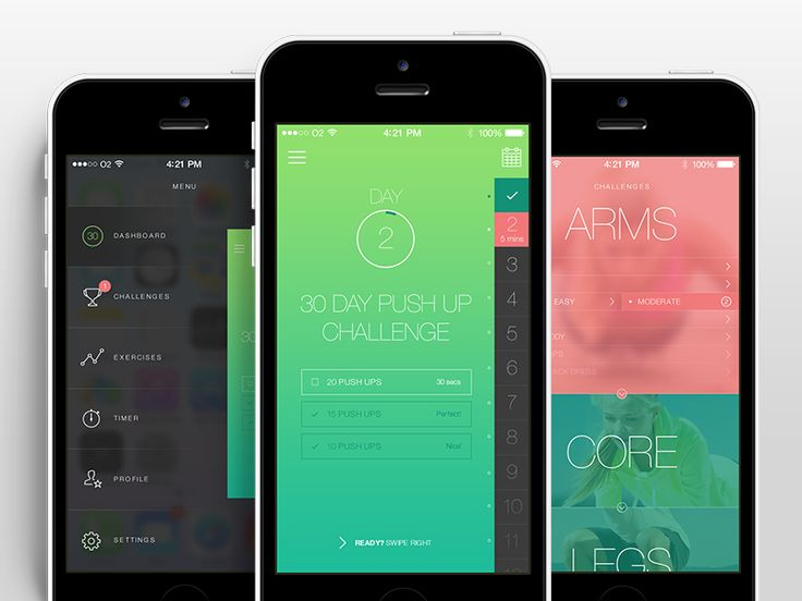 Fitness App UI by Aaron Humphreys