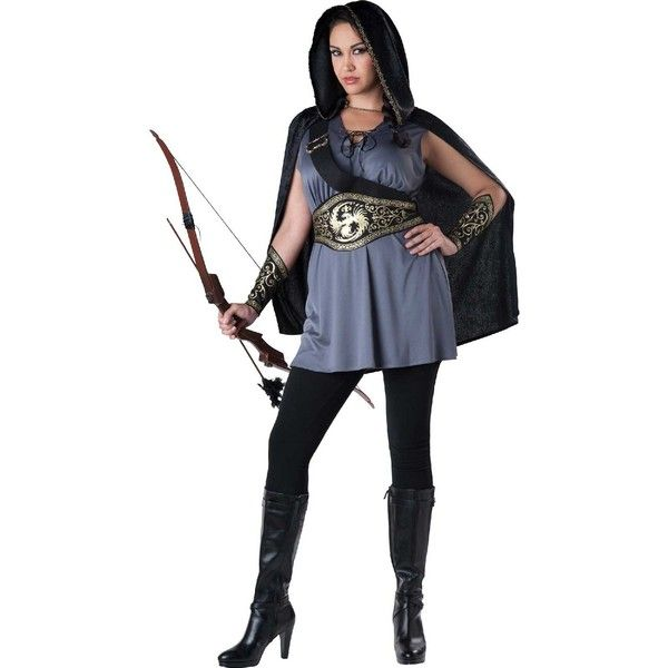 Huntress Dress - Womens Plus Size Costume ($45) ❤ liked on Polyvore featuring costumes, dresses, halloween costumes, white costume, plus size costumes, plus size womens costumes, plus size halloween costumes and party halloween costumes