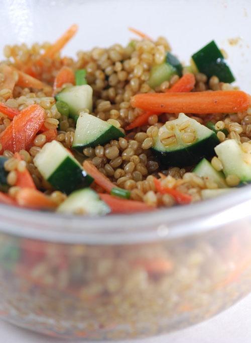 Sesame-Wheat Berry Salad | food | Pinterest