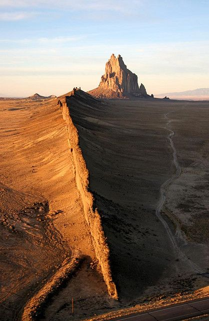 Shiprock, Navajo Nation, New Mexico; photo by Dean Cully