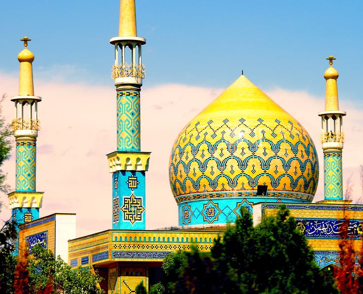 a Mosque in the holy city of Mashad.