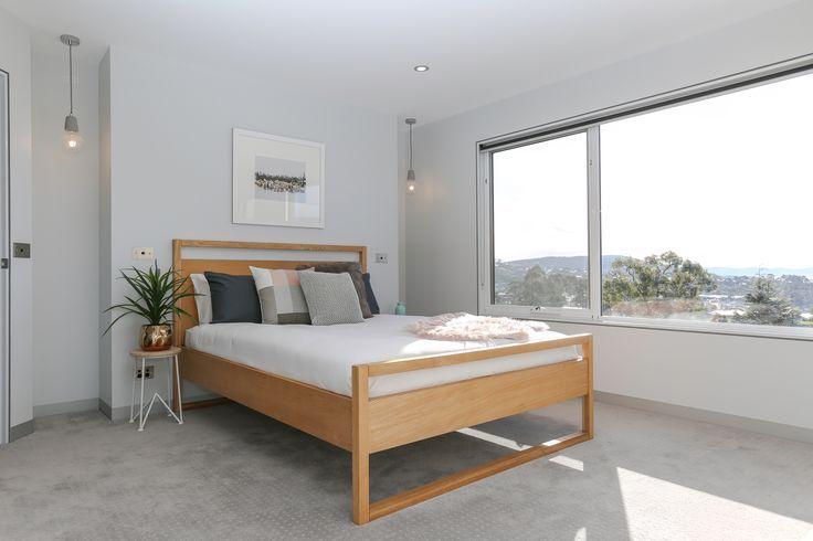 Modern Contemporary Winter Scandinavian Bedroom Timber Bed Frame Faux Fur Pink G In 2020 Contemporary Bedroom Furniture Scandinavian Bed Frames Modern Bedroom