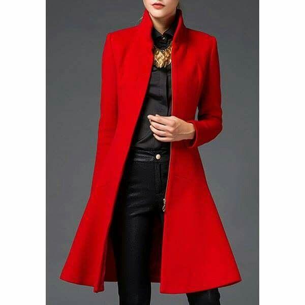 Las 25 Mejores Ideas Sobre Abrigo Rojo Mujer En Pinterest Y Mu00e1s | Suu00e9teres De Color Naranja ...