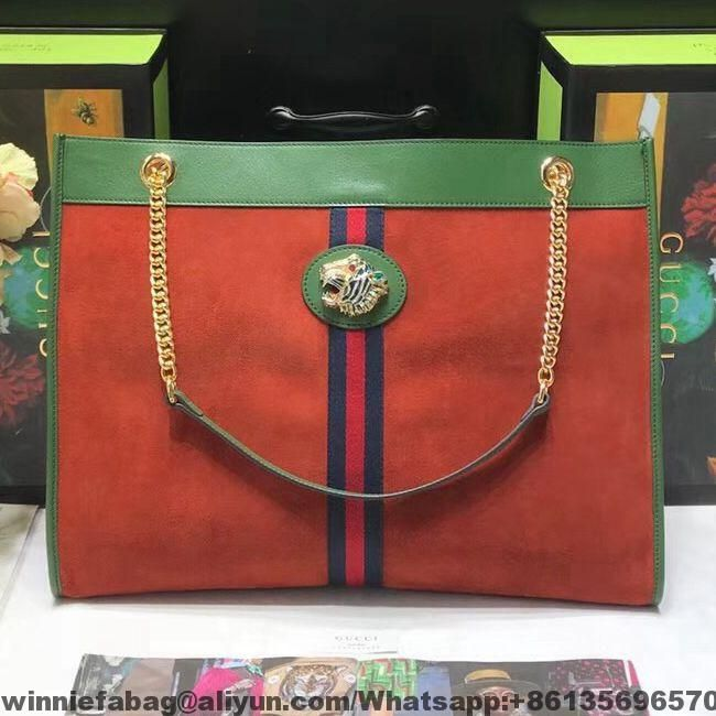 Gucci Suede Leather Rajah Large Tote 537219  004e3f8b2d283
