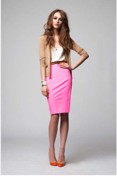 Option for my neon pink pencil skirt
