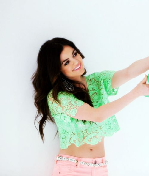 Lucy Hale .. Love the color combo