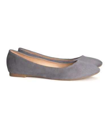 H&M gray ballet flats - Picked these up for $12.95. So simple, so cute.