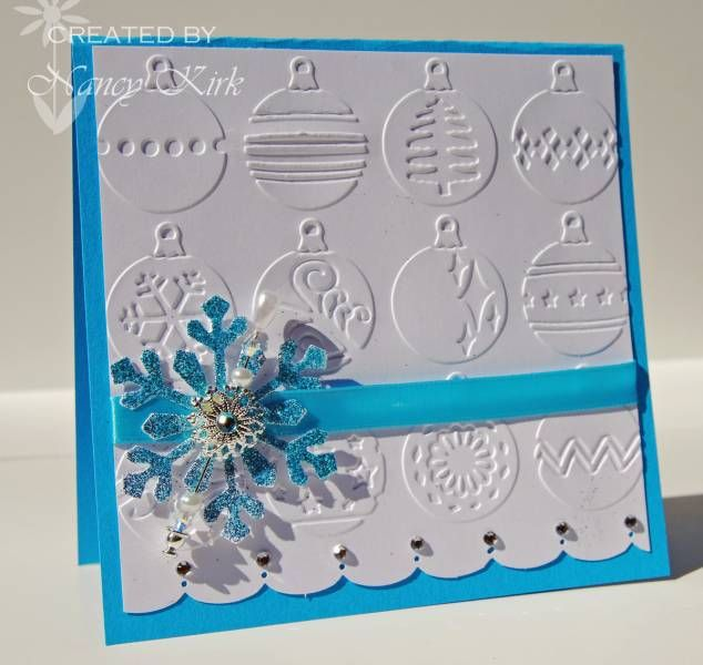 Awesome Paper Craft Christmas Card Ideas Part - 9: Bejeweled Christmas Card - By NancyK. - Cards And Paper Crafts At  Splitcoaststampers