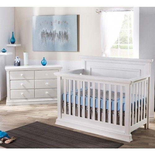 Solid Panel Headboard Crib, Pali Modena Collection In Vintage White. Nursery  SetsNursery FurnitureHeadboardsCribsNurseries