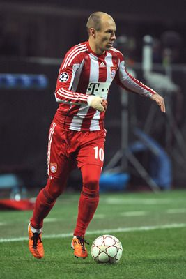 Arjen Robben of the Netherlands and Bayern.