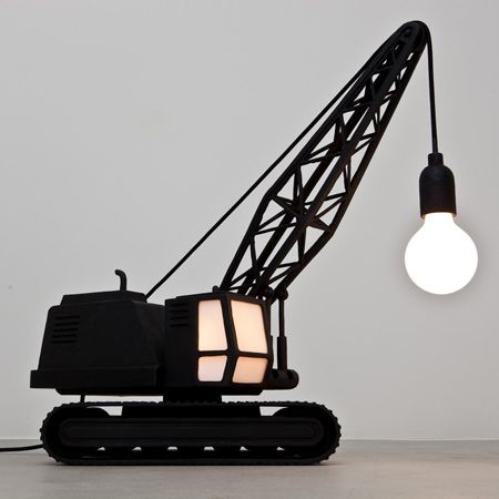 Dezeen » Blog Archive » Wrecking Ball Lamp and Crane Lamp by Studio Job: A classy way to relive your childhood desire to wreck buildings