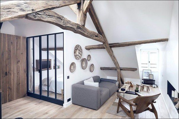 Маленькая симпатичная французская квартира площадью 50 квадратных метров