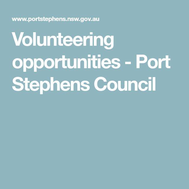 Volunteering opportunities - Port Stephens Council