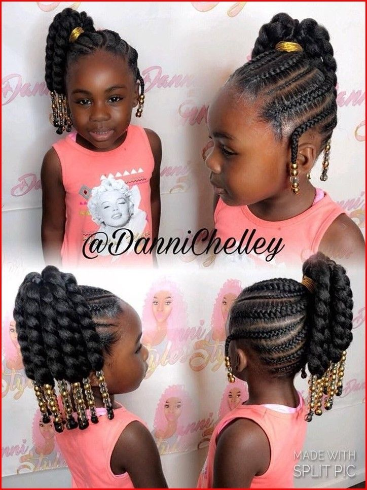 Cute Black Girl Hairstyles With Cute And Simple Creation Cute Little Girl Hairstyles Black Kids Hairstyles Kids Hairstyles