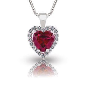 Rubin Diamant Collier aus 585er Weißgold - 8.00 Karat