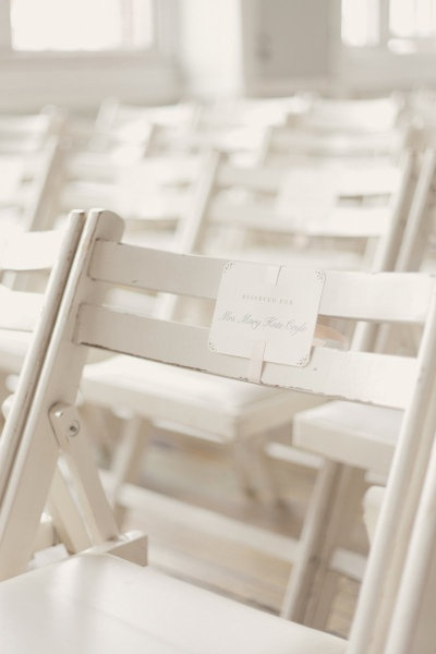 reserved ceremony seats