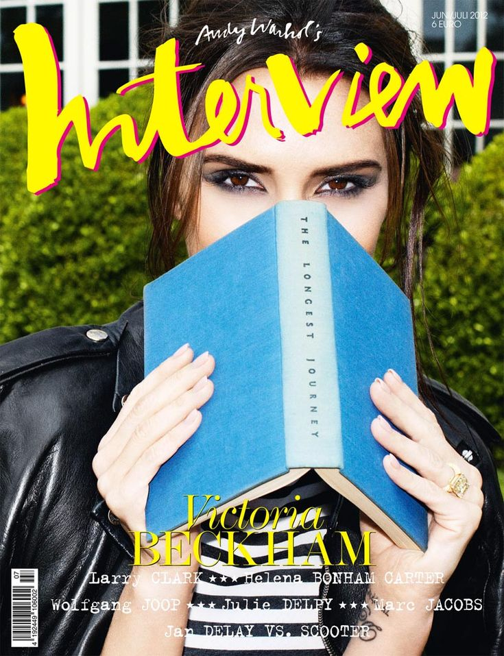 Victoria Beckham is Book Smart for Interview Germanys June/July 2012 Cover