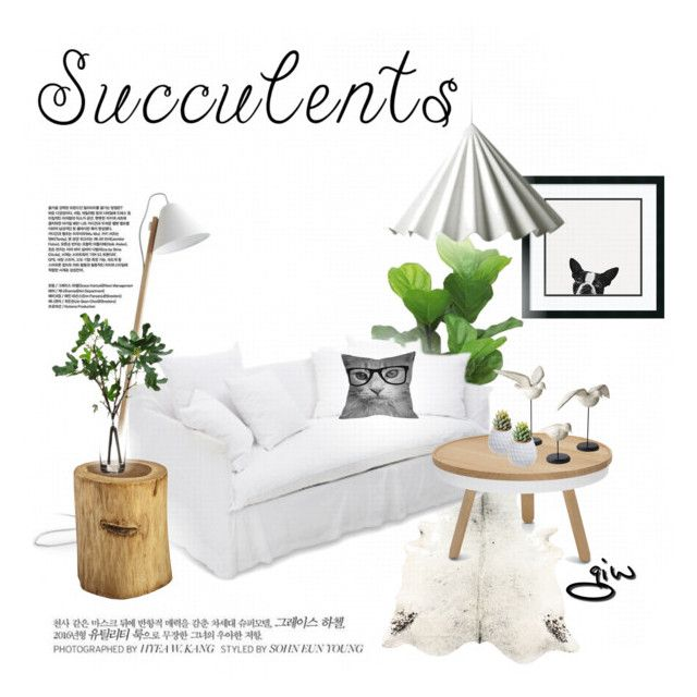 """""""succulents..."""" by ian-giw ❤ liked on Polyvore featuring interior, interiors, interior design, home, home decor, interior decorating, Threshold, Sandro, Ghost and DENY Designs"""
