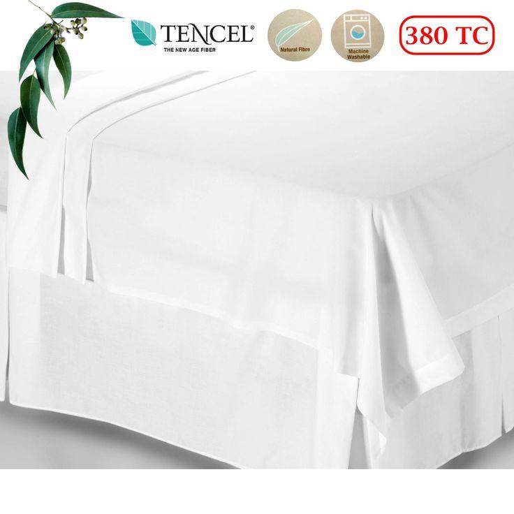 380TC Tencel White Flat Sheet King by Accessorize
