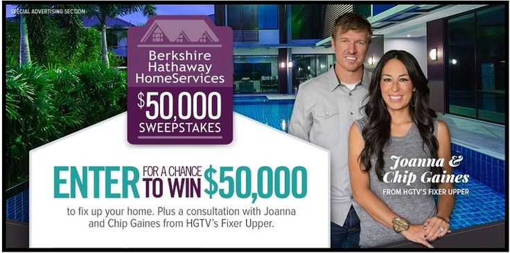 "Have you seen the show, ""Fixer Upper"" on HGTV? Here's your chance to win a phone consultation with Chip and Joanna Gaines and the winner will also get a whopping $50,000 check to help fix …"