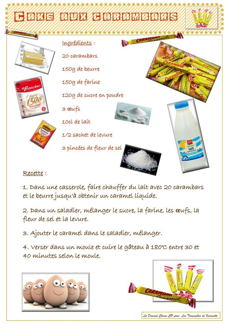 Une recette : la cake aux carambars - Les trouvailles de Karinette